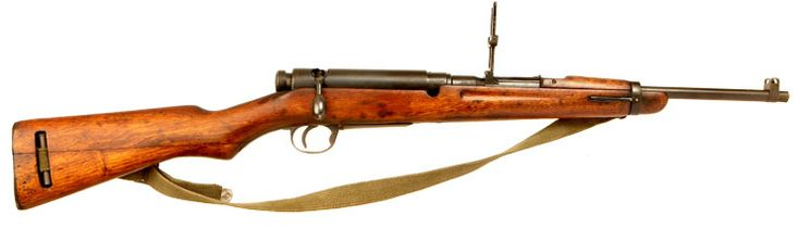 Very Rare Deactivated WWII Japanese Arisaka Type 38 Carbine Converted for Royal Thai National Police (Type 91)