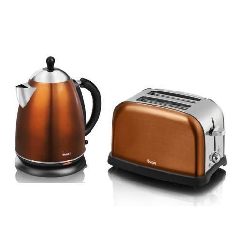 Matching Coffee Maker And Toaster : Swan Copper Kettle and 2 Slice Toaster - SK24011COPN / ST16020COPN Copper, Home and Appliances