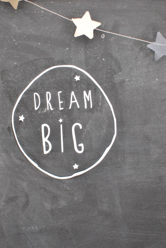 "Image of sticker ""dream big"" from simplyfactory.bigcartel.com"
