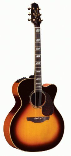 Takamine Pro Series Jumbo Acoustic Electric Guitar, Sunburst with Case