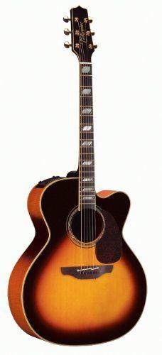 Takamine Pro Series Jumbo Acoustic Electric Guitar, Sunburst with Case