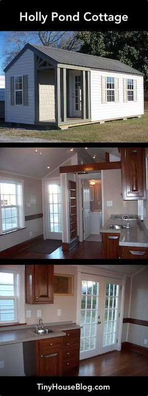 The Holly Pond Cottage is beautiful with lots of light and a cozy secure feeling inside. Note the pressure treated timbers used for the foundation frame. 2X6 exterior stud walls. R19 plus insulation (with extra pocket airspace) in floor, walls, and ceiling. $24,000 plus delivery. | Tiny Homes