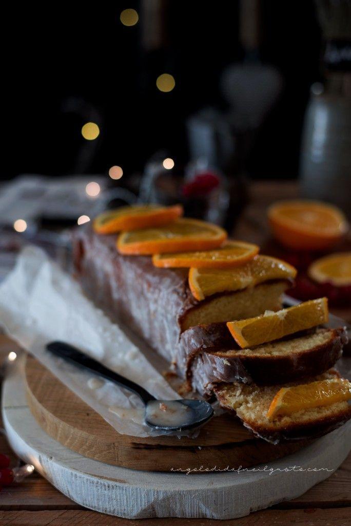 Cake alla panna montata con glassa all'arancia