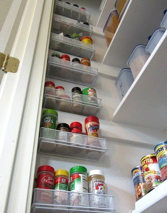 Innovative Spice Storage Solution: Hang Drawer Organizers On Your Pantry Wall | The Kitchn