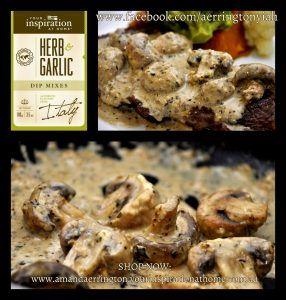 Creamy+Garlic+Mushrooms