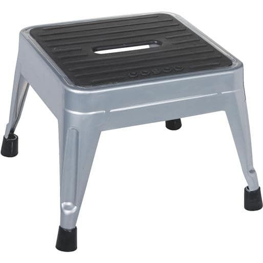Cosco Home & Office 1-Step Metal (Grey) Step Stool 11-010-PBL4 Unit: Each