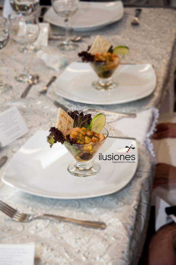 Coctel de camarones www.ilusionesop.com #casateconilusiones
