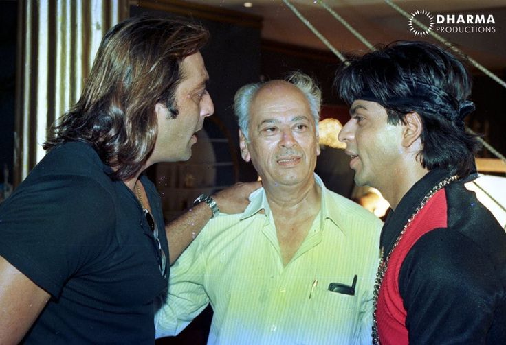 DUPLICATE 1998 on set with Yash Johar and Sanjay Dutt