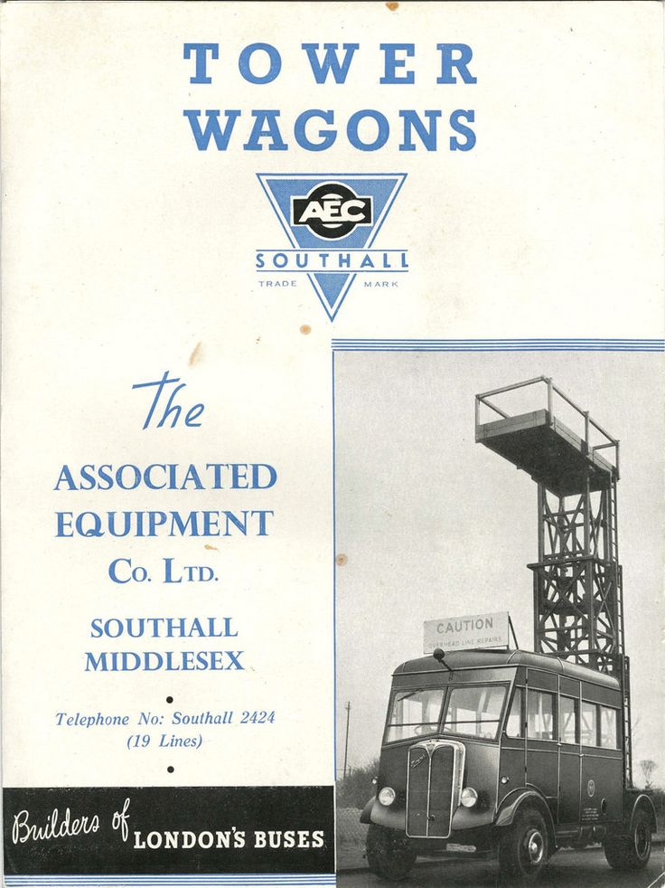 Alle Größen | Tower Wagons - brochure issued by AEC - the Associated Equipment Company Co Ltd., Southall, c1950 | Flickr - Fotosharing!