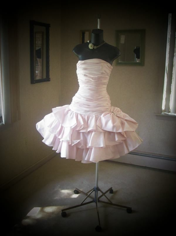 VINTAGE 80s LILLIE RUBIN AUTHENTIC PROM PARTY DRESS PINK S ...