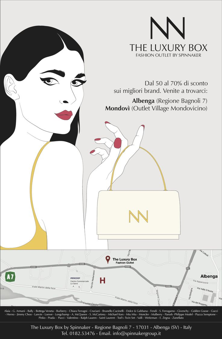 """New Advertising for """"the Luxury Box"""", fashion outlet by Spinnaker"""