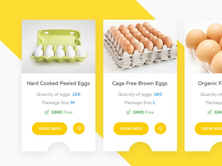 Product Cards for Egg-Selling Website by Rahul Chakraborty