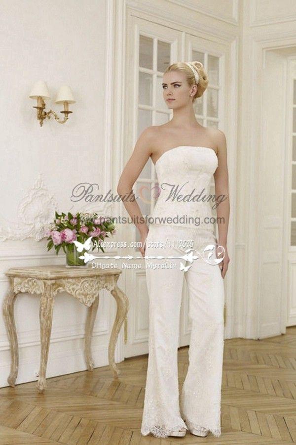 42d420dc45b8 Elegant wedding pants suit lace dress with chiffon cloak BA-071 ...