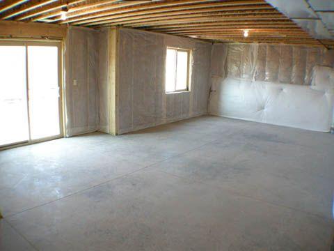 Unfinished walkout basement alpine 1701 pinterest for Daylight basement windows
