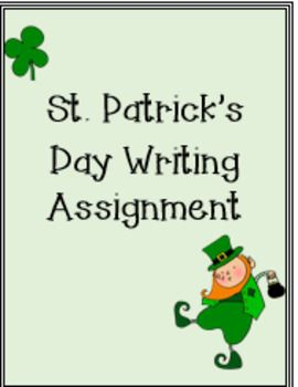 St. Patrick's Day Writing Assignment