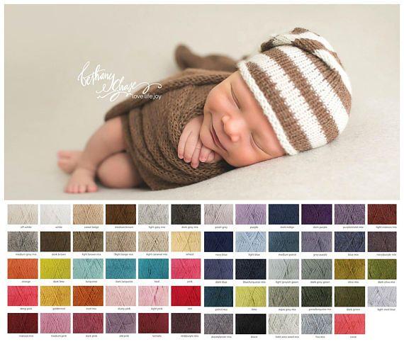 NEW Extra long Knit alpaca wrap and Newborn slouch hat Newborn