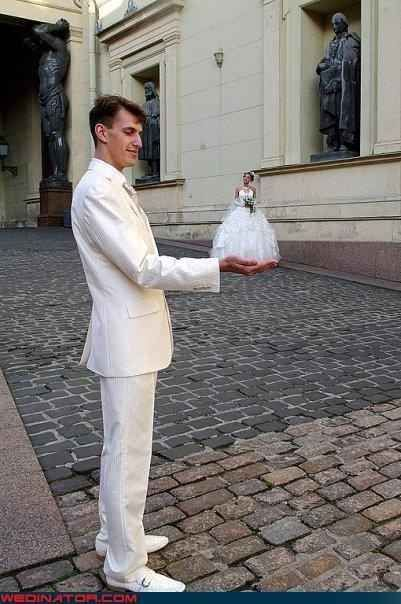 "The ""tiny bride"" perspective pic. 