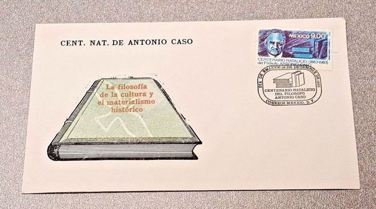 ANTONIO CASO Centenaro Natalico del Filosofo First Day Cover Stamp MEXICO