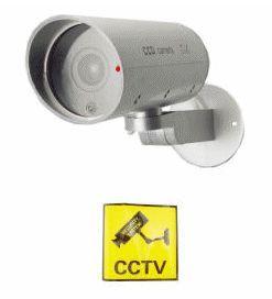 Dummy Camera Indoor/Outdoor Housing w/ Motion Detector