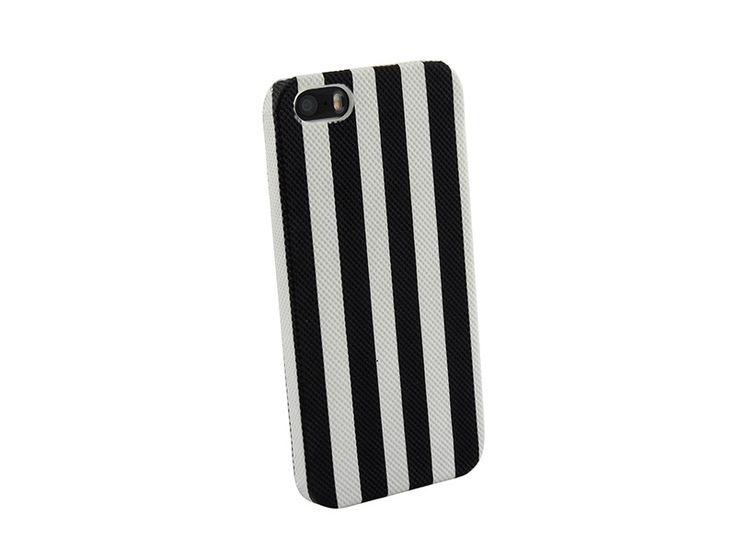 Hardcover Snap Case hoesje iPhone 5 & 5S strepen zwart