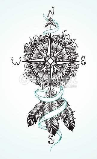 Thinking this would be awesome on the hip with the feathers hanging down the thigh.