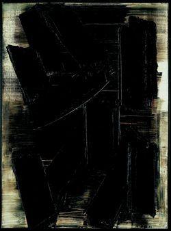 Pierre Soulages - Peinture, 1956 - Huile sur toile (81 X 60 cm)