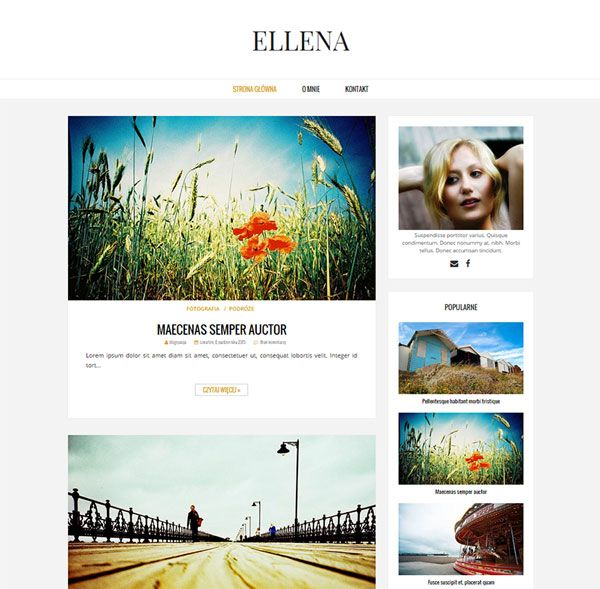 Ellena: szablon na bloga blogger (blogspot) [ Blogger Template, Blog Design ]