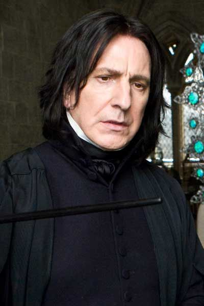 Alan Rickman: my absolute favorite actor is Servius    Year Six: Harry Potter and the Half-Blood Prince. Severus Snape, Hermione Granger, Ron Weasley, Harry Potter, and Minerva McGonagall. (Movie)