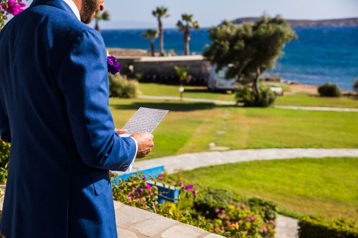 groom's preparation paros poseidon hotel greece golden beach