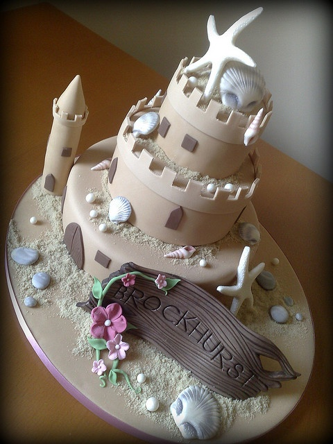 sand castle cake@Lori Pasquier.. I could see you making this one!! :)