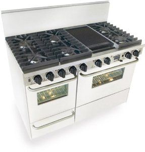 "B001F845J8/ 48"" Pro-Style Dual-Fuel LP Gas Range with 6 Sealed Ultra High-Low Burners 3.69 cu. ft. Convection Electric Oven Self-Cleaning and Double Sided Grill/Griddle---See more at http://www.shoppingisabreeze.com"