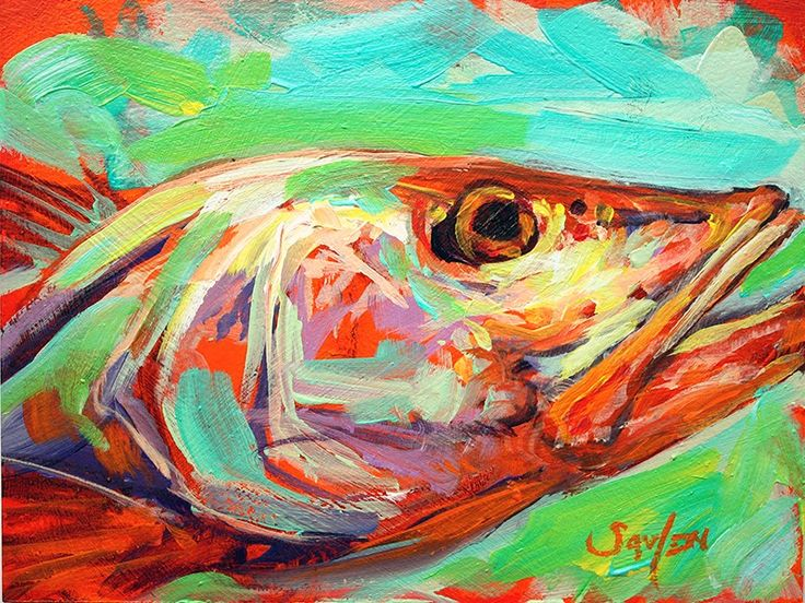 17 best images about daily paintings fish art and other