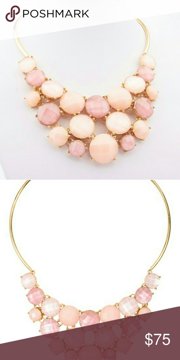 NEW Tory Burch Bib Necklace New without tags. Gold-plated metal with epoxy stones. Chain length approx. 17 inches. Retail $198 plus tax.  NO TRADES. PRICE FIRM. Ships next business day. kate spade Jewelry Necklaces