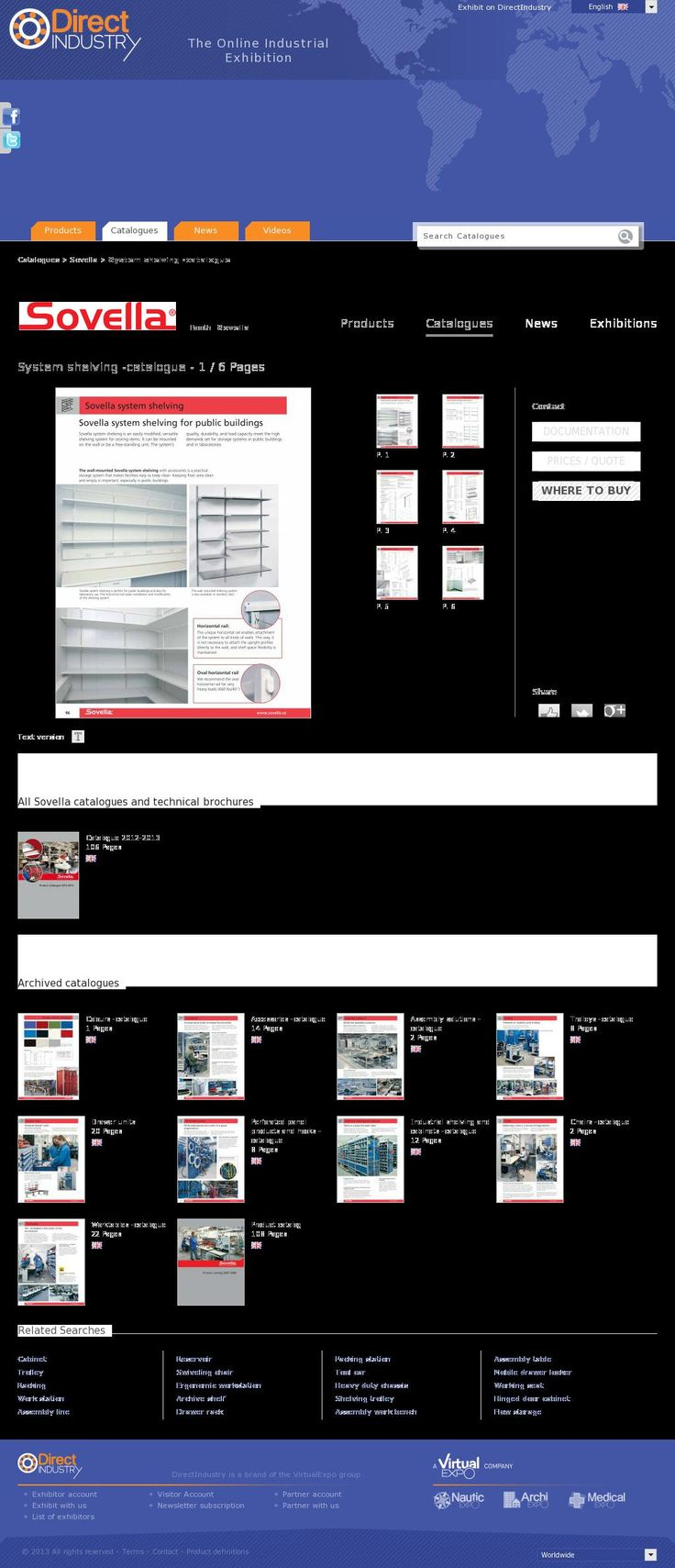 The website 'http://pdf.directindustry.com/pdf/sovella/system-shelving-catalogue/16557-47642.html' courtesy of @Pinstamatic (http://pinstamatic.com)