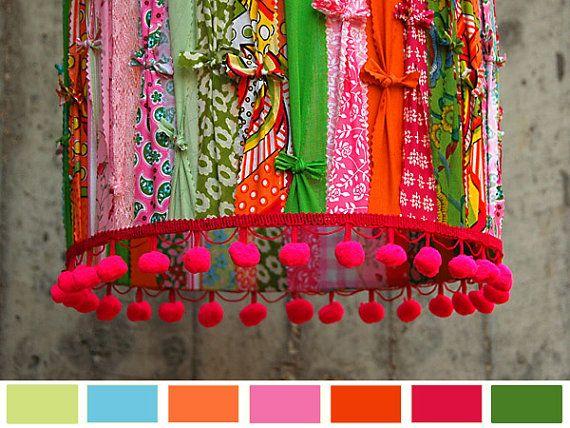 Primavera Sorbete Happy LampShade. van GreenQueenEcoDesign op Etsy