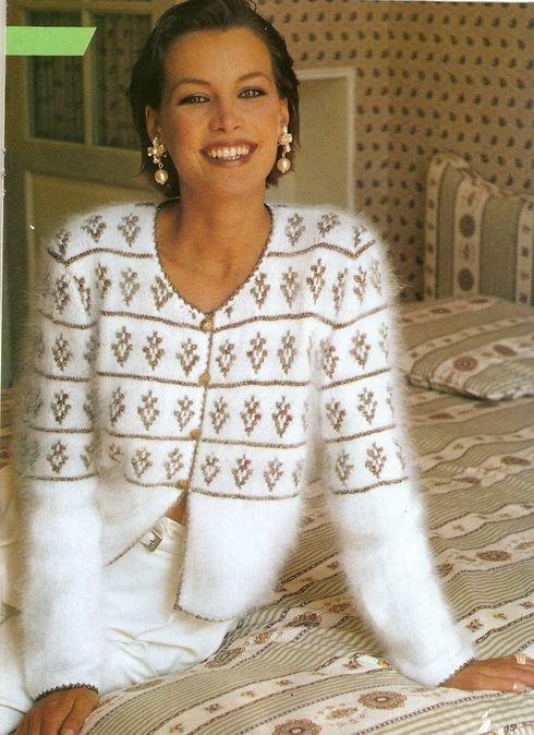 Схема вязания жакета из ангорки - Жакеты схемы вязания - Вязание для женщин - Схемы вязания крючком и спицами - Вязание
