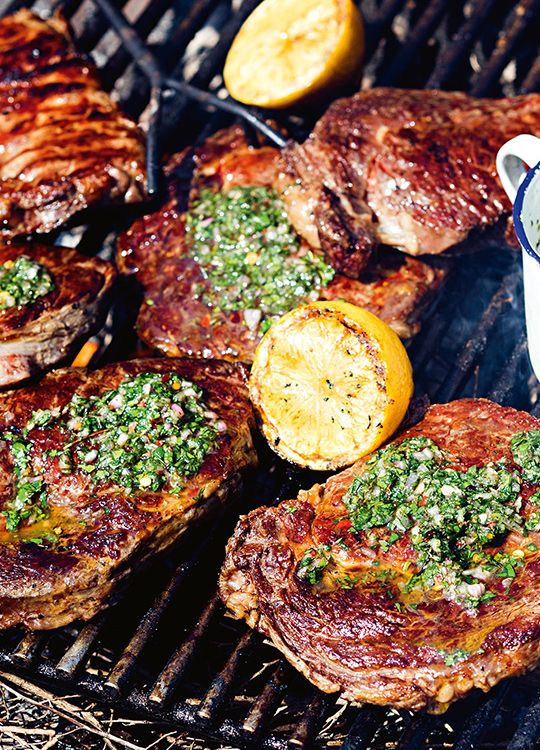 How to make Grilled Steaks With Chimichurri