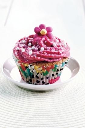 Vadelmaiset kuppikakut eli cupcakes