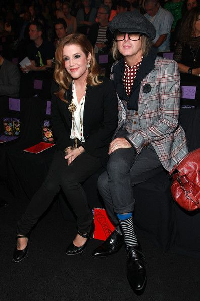 Lisa Marie Presley and Michael Lockwood Photo - Anna Sui - Front Row - Spring 2012 Mercedes-Benz Fashion Week