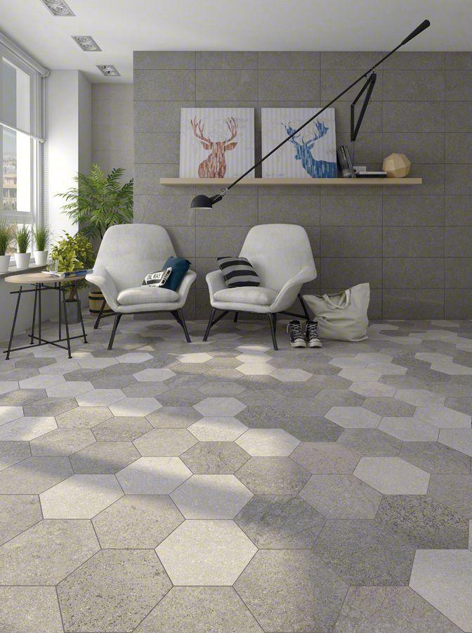 Salón | Hall inspiration | home ideas | neutral tones | Porcelanico ASTON flooring | VIVES Azulejos y Gres S.A.| floor tiles | gray colours | stone aesthetic | interior design