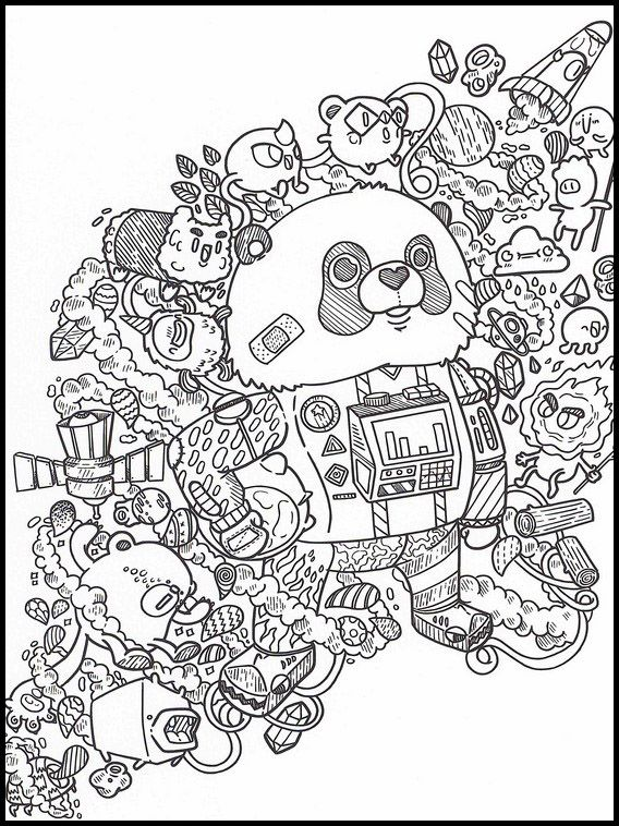 Doodles In Space 24 Printable Coloring Pages For Kids Cartoon Coloring Pages Cute Coloring Pages Coloring Books