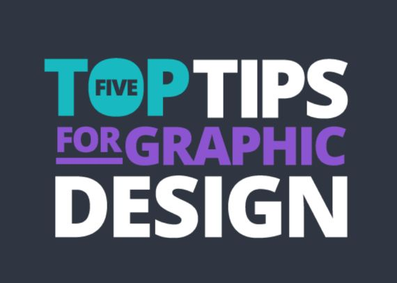 "Top 5 Tips for Professional Looking Graphic Designs for your blog, social media post and marketing materials. I would also add that using ""shadows"" on your font to help readability when placing type on a photo is also a good idea when warranted."