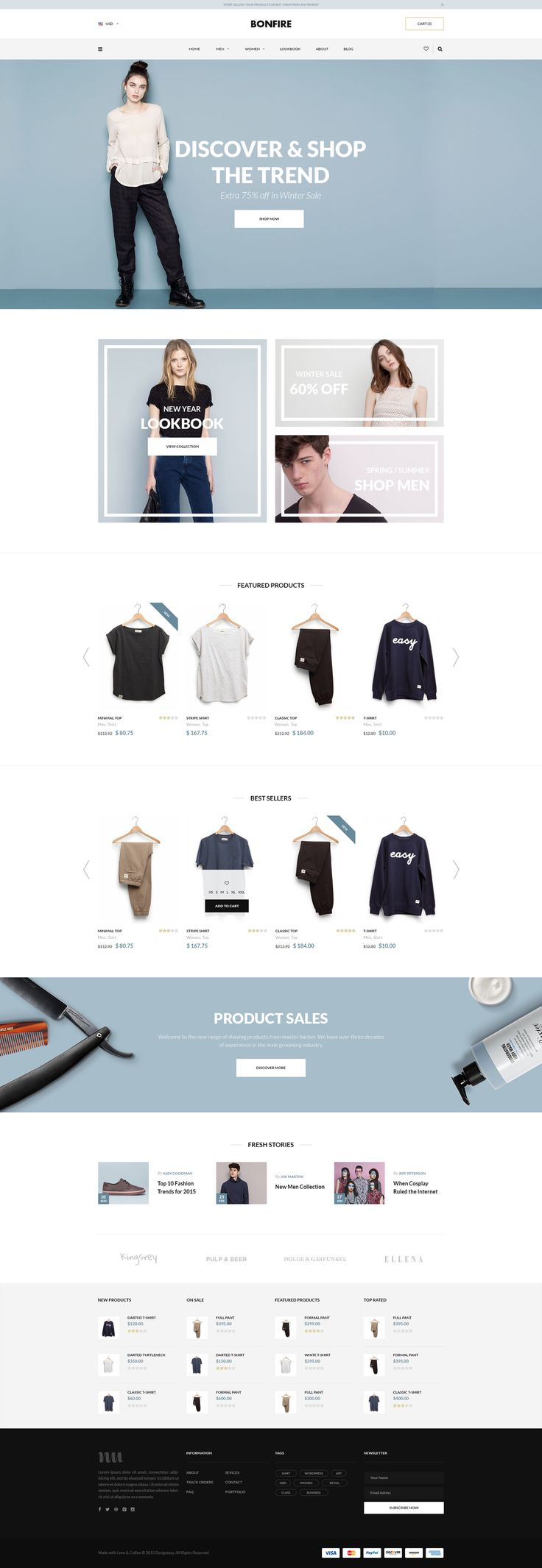 Bonfire – Free E-commerce Website Template #pds #website #ecommerce #shop…
