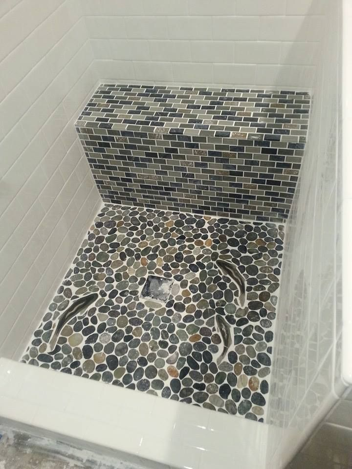 541 Best Bathroom Pebble Tile And Stone Tile Ideas Images