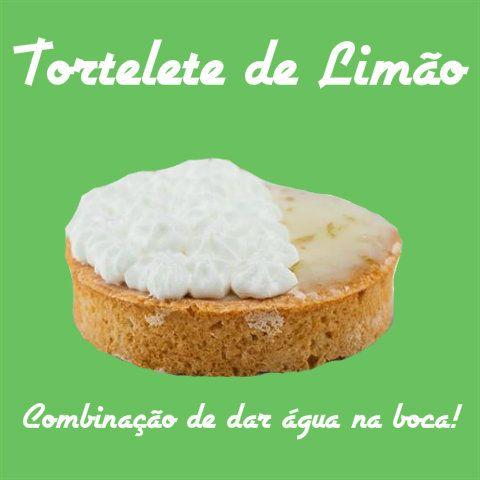 ESPECIALIDADE LIBE CONFEITARIA: TORTELETE DE LIMÃO  Recheado com leite condensado e limão, base amanteigada, coberta com merengue e raspas de limão.