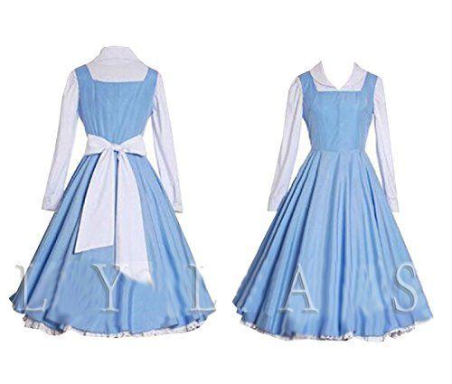 Cosplay Costume Blue Belle Village Dress