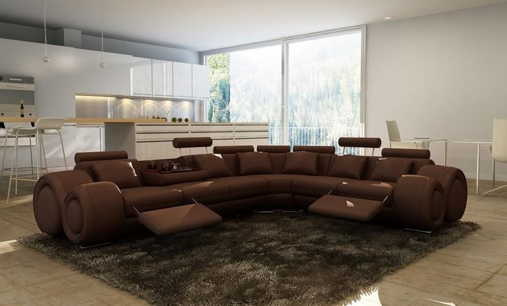 Stylish Design Furniture - Divani Casa 4087 Brown Bonded Leather Sectional Sofa, $1,957.50 (http://www.stylishdesignfurniture.com/products/divani-casa-4087-brown-bonded-leather-sectional-sofa.html)