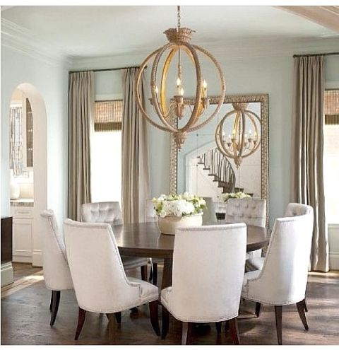 Beautiful Dining Room Inspiration MUST HAVE comfy chairs like these!