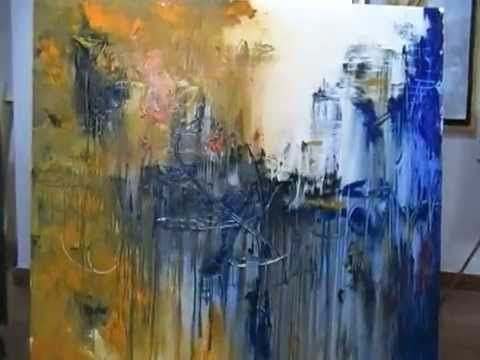 Como pintar un cuadro abstracto - Gabriela Mensaque - Artistica Monitor - YouTube