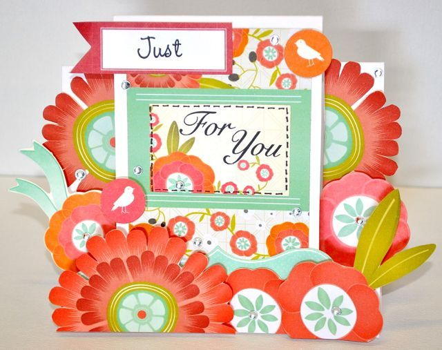 A step card made using the Spring Bloom Collection from Kaisercraft. By Kelly-ann Oosterbeek.